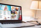 Flip PDF Professioanl sul laptop con un effetto di capovolgimento di pagina