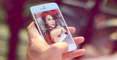 Page Flip sul smartphone con un effetto di capovolgimento di pagina