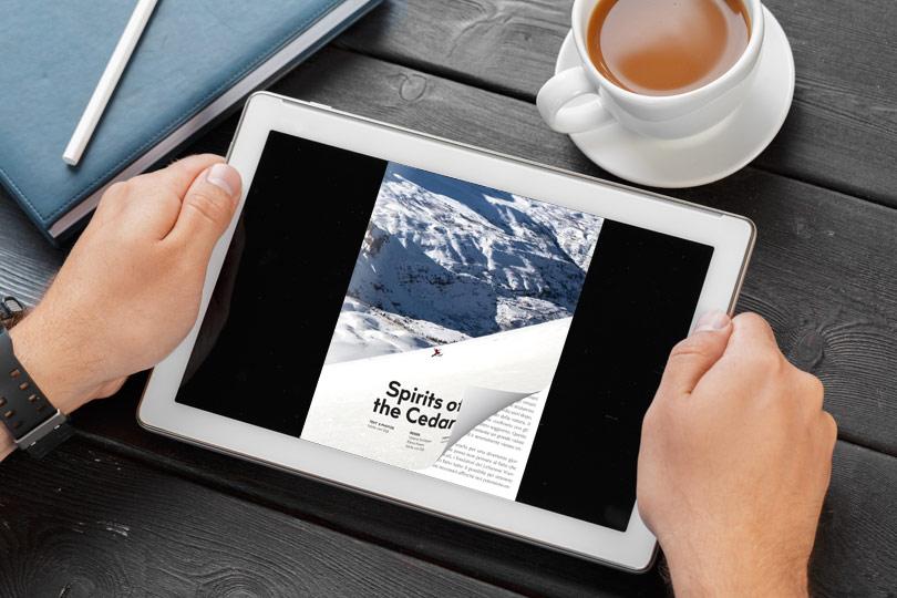 PDF to Flipbook sul tablet con un effetto di capovolgimento di pagina